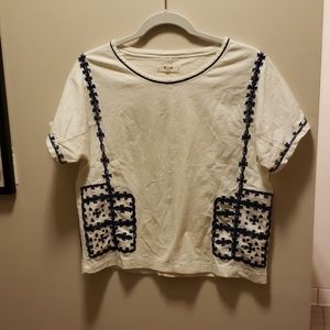 Embroidered boxy tee
